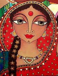 woman art by rachana